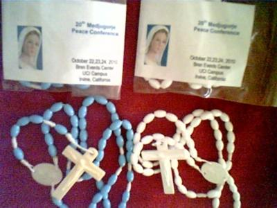 this was the kind of Rosaries I donated during the 20th Medjugorje Peace Conference held in Irvine, California